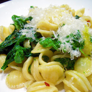 Orecchiette Pasta with Rapini and Garlic.