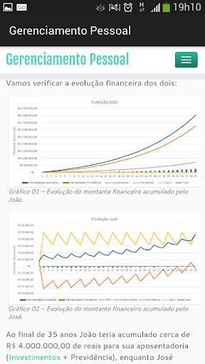Informações Finanças Pessoais