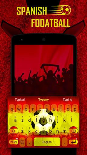 mod Spanish Football Theme&Emoji Keyboard 4.5 screenshots 1