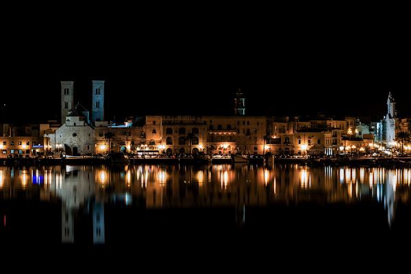 Scorcio Notturno porto Molfetta di gianniturtur
