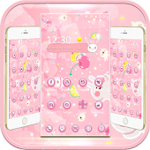 Pink Cute Bunny Cherry Candy Theme Rabbit Ear Icon