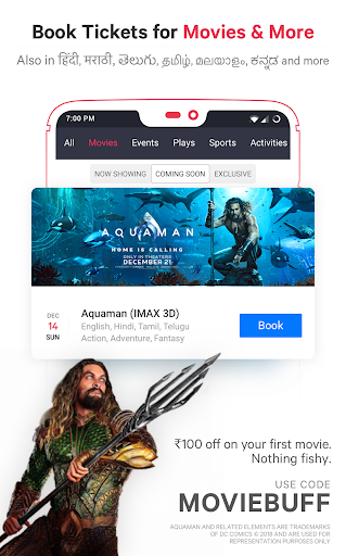 BookMyShow - Movies, Events & Sports Match Tickets  screenshots 3