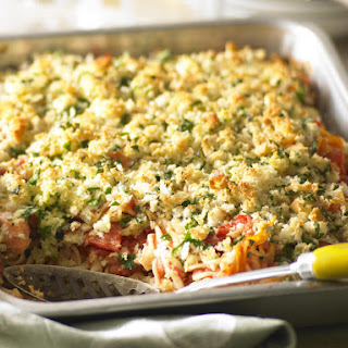 Baked Salmon and Tomato Pasta