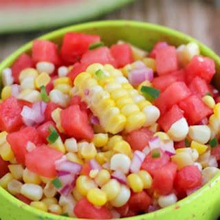 Farm Fresh Watermelon Corn Salsa.