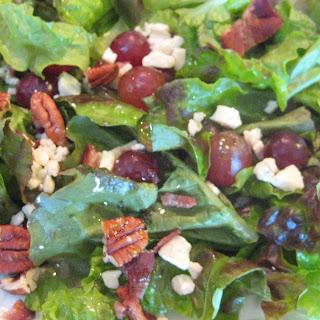 Gorgonzola Pecan Crunch Salad with Hazelnut Vinaigrette