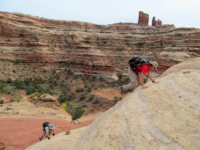 Climbing the moqui steps