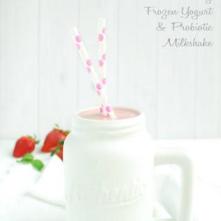 Strawberry Frozen Yogurt & Probiotic Milkshake.
