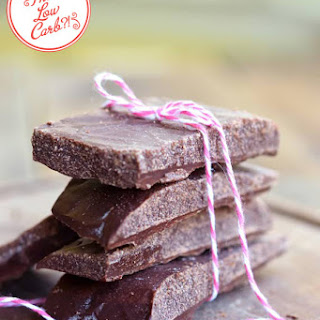 Low Carb Chocolate Bars.