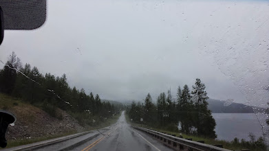 Photo: Driving toward Montana... straight into the heart of the (snow!) storm