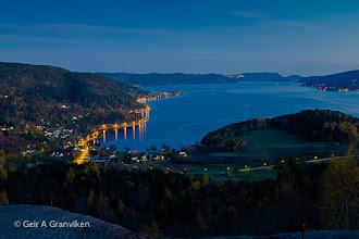 Photo: Twilight hour in Hyggen by Drammensfjorden