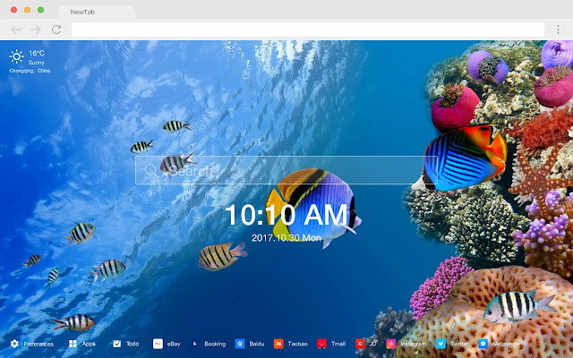 Coral New Tab Page Top Wallpapers Themes