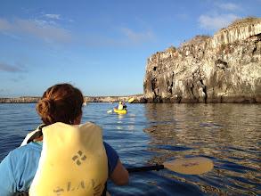 Photo: Kayaking the caldera