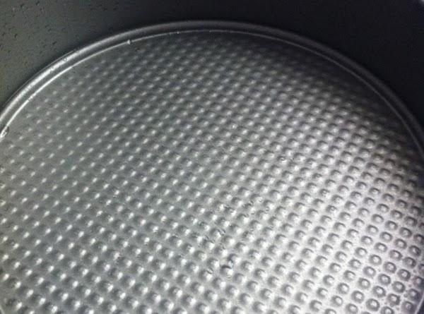 grease bottom of springform pan