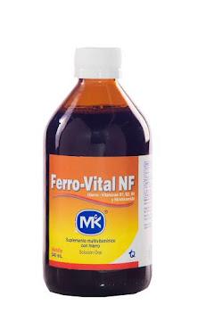 Ferro-Vital NF MK Suplm.   Fco. x340ml. MK Hierro Vitaminas B1 B2 B6
