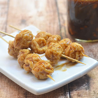 Homemade Fish Balls with Spicy Fish Ball Sauce.