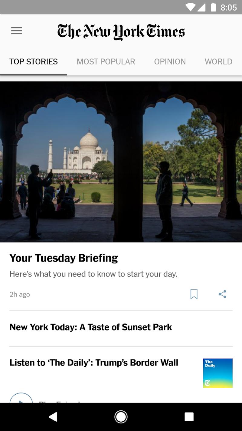 NYTimes - Latest News Screenshot