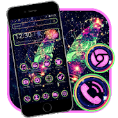 Colorful Galaxy Feather Theme