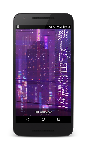 VAPORWAVE Live Wallpaper  Aplicaciones para Android screenshot