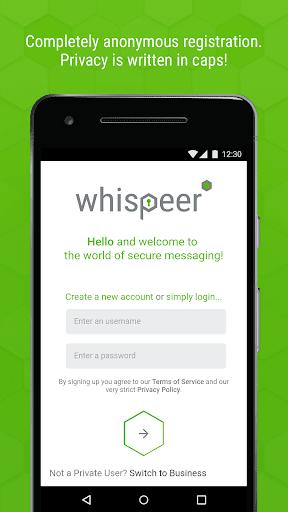 whispeer Messenger  screenshots 1