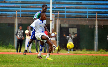 Photo: Kwame Quee [Training game against u-20 National team, ahead of Leone Stars v Seychelles Game in Freetown on 19 July 2014 (Pic: Darren McKinstry)]