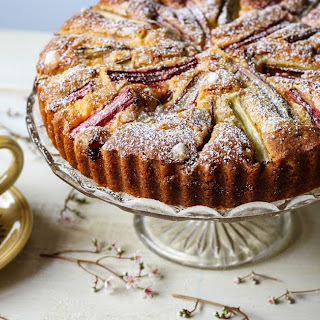 Rhubarb  and  Custard  Cake.