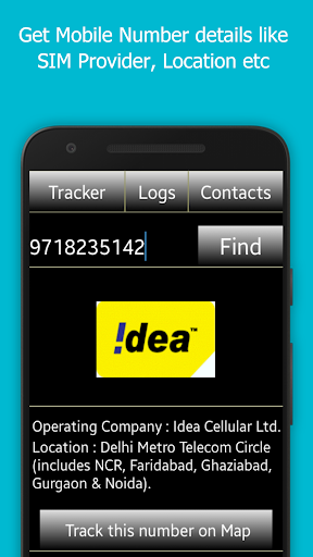 Mobile Number Tracker screenshot