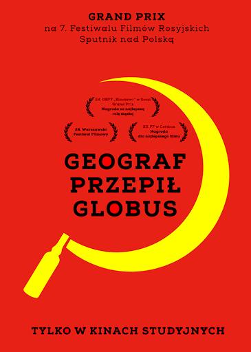 Przód ulotki filmu 'Geograf Przepił Globus'