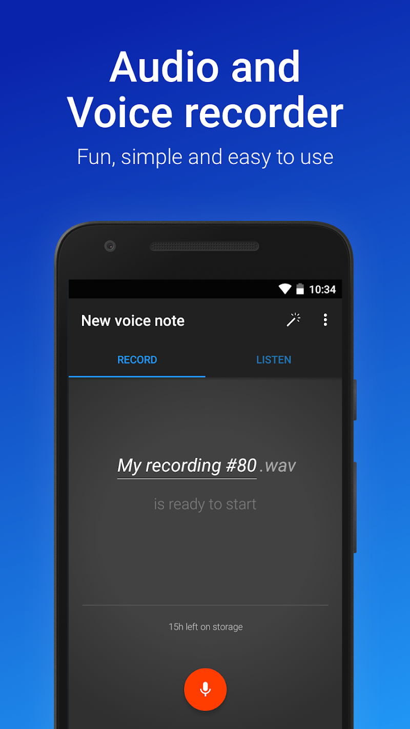 Easy Voice Recorder Pro Screenshot 0
