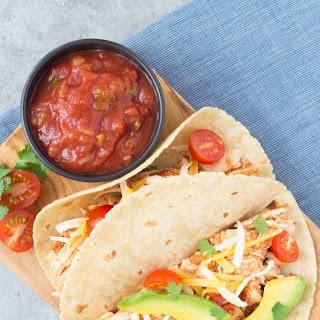 3-Ingredient Slow Cooker Taco Chicken.