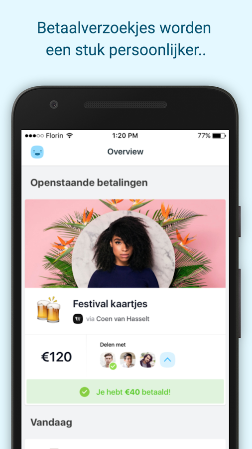 Florin – payments with friends- screenshot