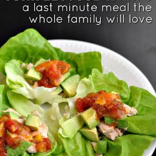 Chunky Tuna Lettuce Wraps.