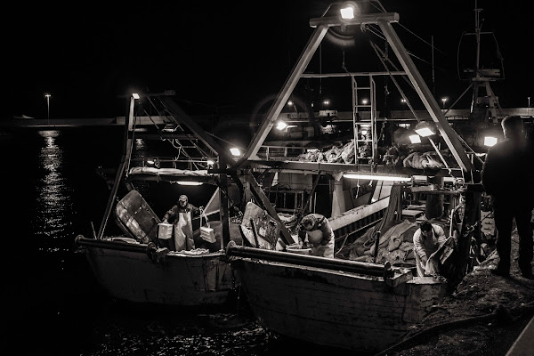 pescatori a Monopoli di zucco