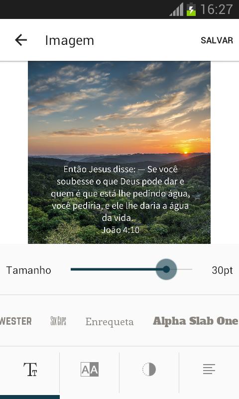 Bíblia Sagrada: captura de tela