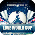 World Cup football theme 3D icon