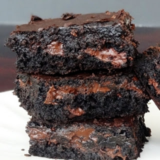 Moist and Chewy Brownies.