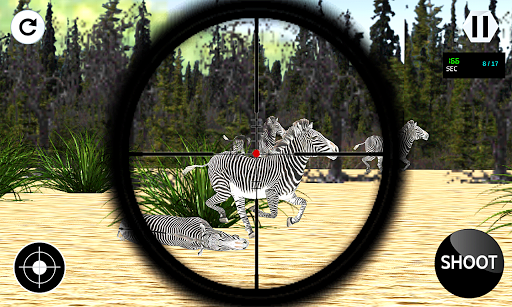 狙擊手狩獵斑馬