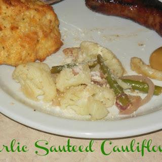 Garlic Sauteed Cauliflower & Green Beans.