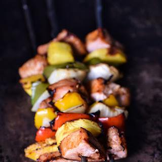 Easy Grilled Pork Tenderloin and Pineapple Skewers.