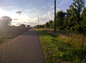 Photo: The bike/walking trail, heading home. #throughglass