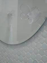 Photo: MBR Toilet Deco - Transparent Butterfly Hook