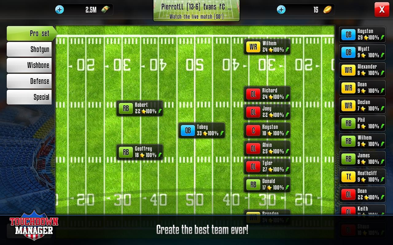 Touchdown Manager- screenshot