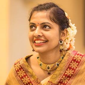The Bride  by Aditi Dinakar - Wedding Bride ( indianwedding, brideallset, bride, indianbride, aditi )