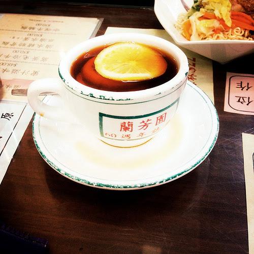 Hong Kong, Lemon Tea,  香港, 檸茶, cha chaan teng, 茶餐廳