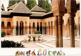 "Photo: This is the famous ""Court of the Lions"" with its central fountain."