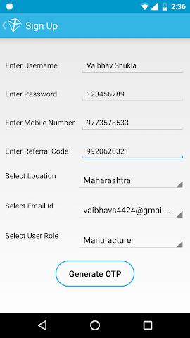 android ADAMAS Screenshot 1
