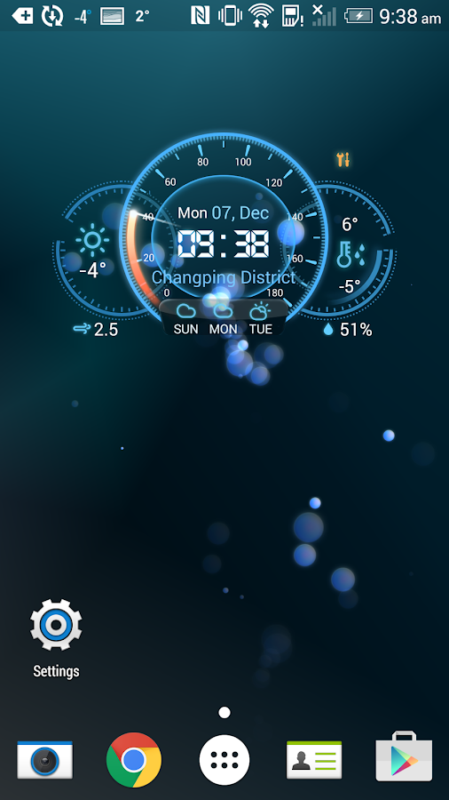 Date and time widget in Australia