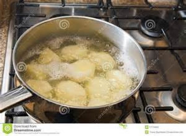 In a large pan, add salt, and enough water, to cover the potatoes, bring...