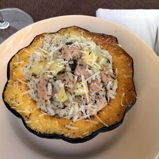 Maple-Sage Pork & Apple Stuffed Acorn Squash