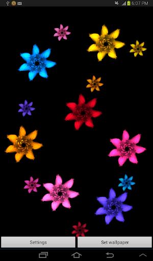 Bright Flowers Live Wallpaper