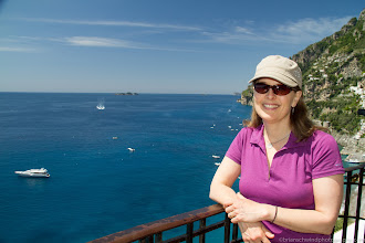 Photo: Denise enjoying a rest day in Positano, Italy